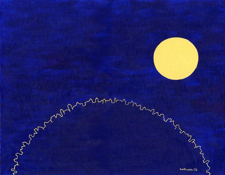 The Moon Above Cricklewood - Eva Koudela's Art