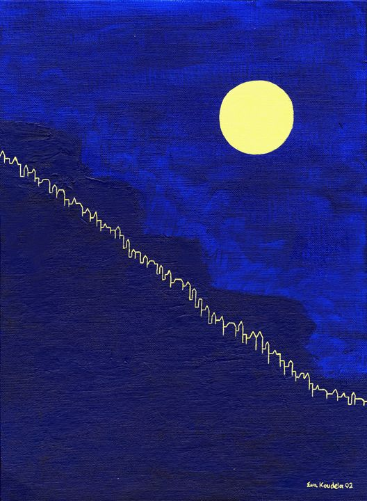 Sloping Moon - Eva Koudela's Art