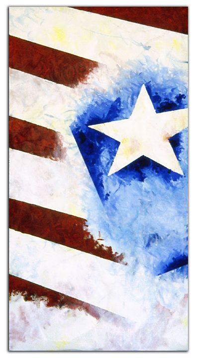 Flag abstraction #4 - Brett Paints