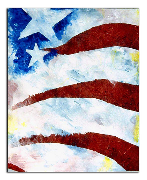 Flag abstraction #2 - Brett Paints