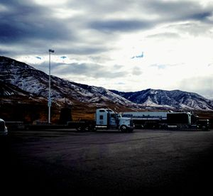 Semi Trucks and Mountains - Amanda Hovseth