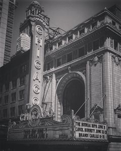 Chicago Theater in Black and White