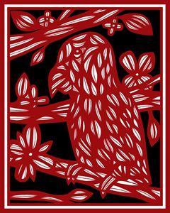 Makela Parrot Red White Black