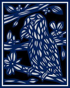 Zeitlin Parrot Blue White Black