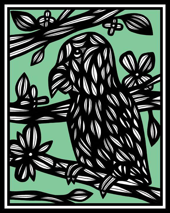 Kowalewski Parrot Green Black - 631 Art