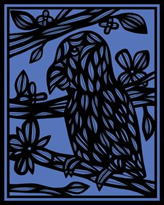 Fatheree Parrot Blue Black