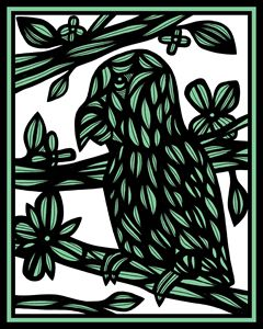 Mccullan Parrot Green Black