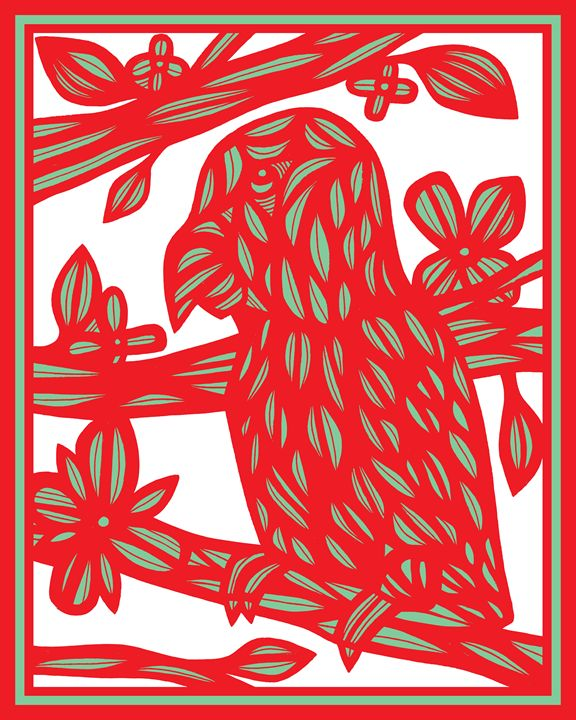 Beresnyak Parrot Red Green White - 631 Art