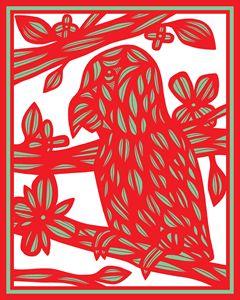 Beresnyak Parrot Red Green White