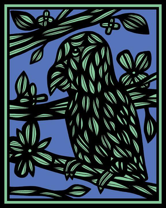 Aker Parrot Green Black - 631 Art