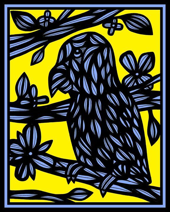 Opaque Parrot Yellow Blue - 631 Art