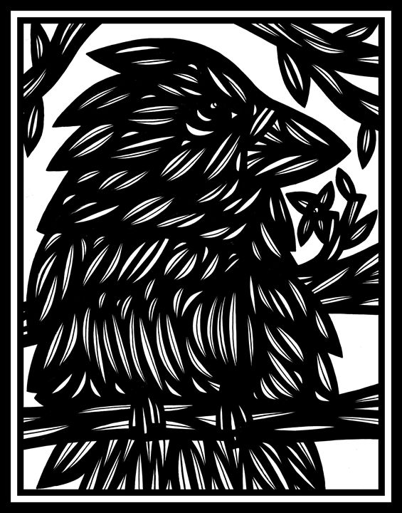 Coalesce Bird Black and White - 631 Art