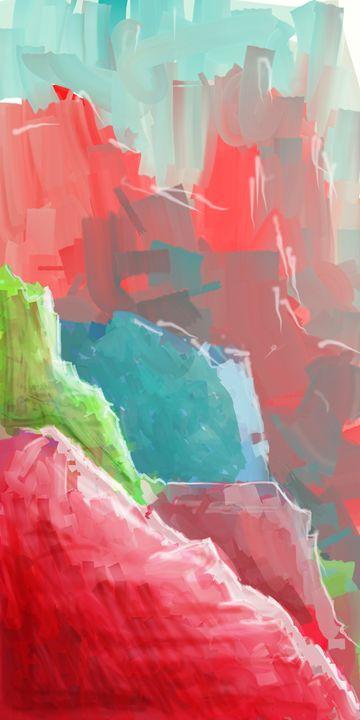 Colorful Rock  Formations - Rui Barros art illustration