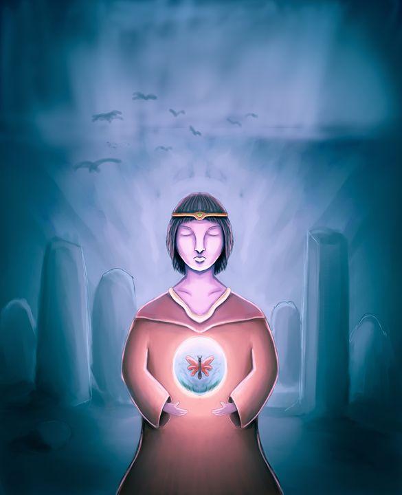 The Young Wizard - Rui Barros art illustration