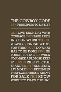 The Cowboy Code • Brown