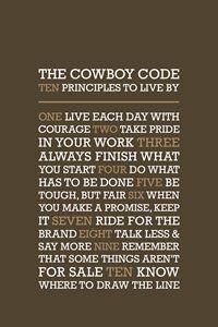 The Cowboy Code •Brown