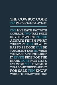 The Cowboy Code • Blue