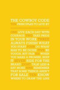 The Cowboy Code •Yellow