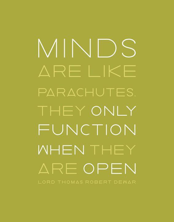 Minds like Parachutes in Green - Megan Romo