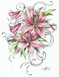 1503 - Red Lilies