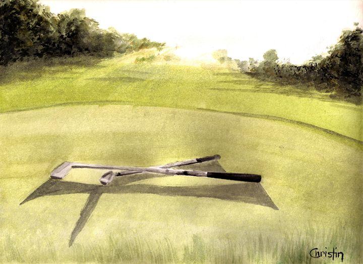 Golfing at Sunset - CC ARTWORK