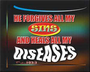 He forgives my sins...