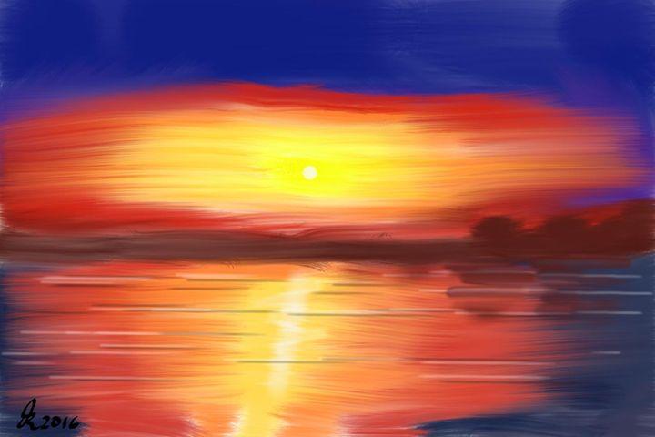 Lake Sunset - John Rinken
