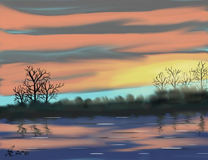 Lake Sunrise - John Rinken