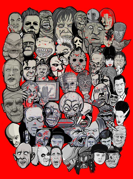 icons of horror cinema -  Niles2209