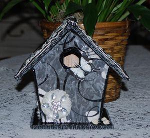 Elegant Black and White Birdhouse