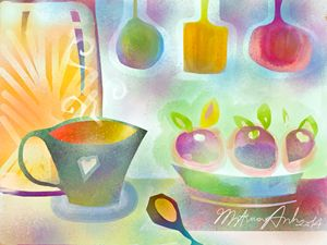 Kitchen aroma - Little Anh's art corner