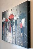 Original Painting of umbrellas