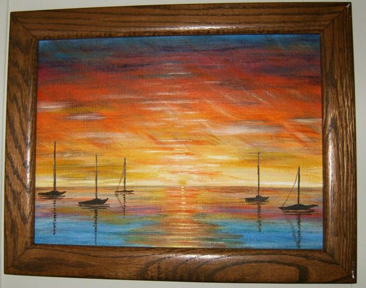 Sailboats & Sunsets- Sold - IGOT2BME