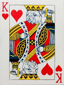 King of hearts. Pug. Playing card - WombArt