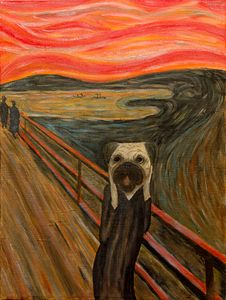 Edvard Pugch – The Scream. Pug. Dog