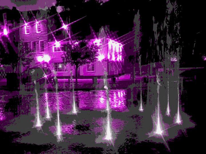 Folkestone Harbour Fountains - Rogers Art Shop