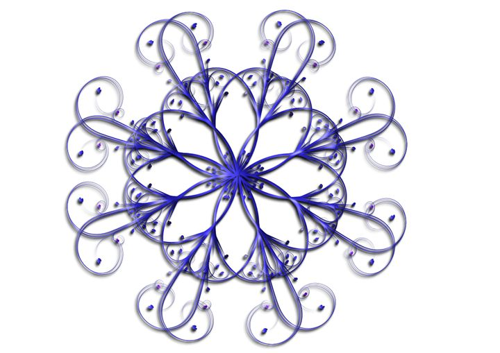 Blue  Flourish - Rogers Art Shop