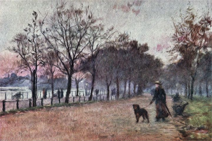 Walking The Dog - Rogers Art Shop