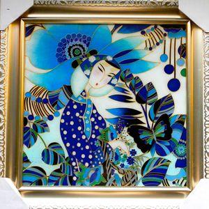 Flower Girl - Yucan Huang Cloisonne Art!
