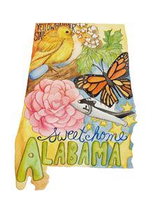 Alabama the Yellowhammer State - Bluebells & Butterflies