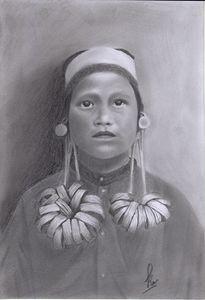 Ancient Borneo Woman