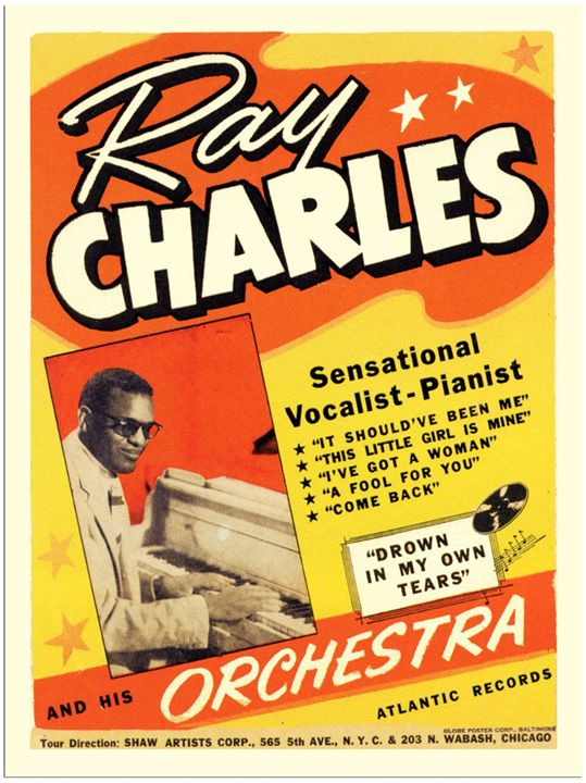 Ray Charles Poster - The Muirhead Gallery