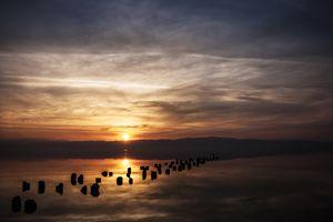 Sunset glare
