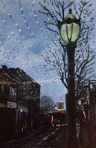 Lampposts and Christmas Lights