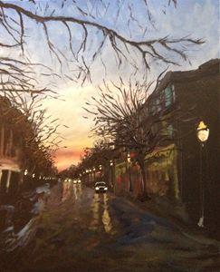 Trees on Dauphin Street, Sunset