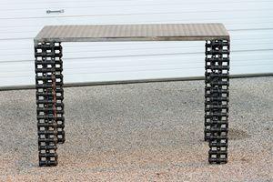 Industrial metal Sofa Table