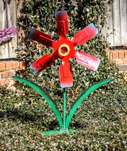 Metal Art Flower - Raymond Guest Metal Art at Recycled Salvage Design