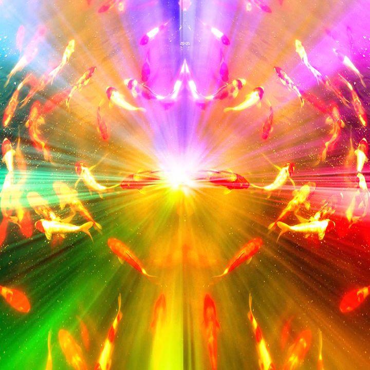 Rainbow Aura Fish - NickRockDesigns