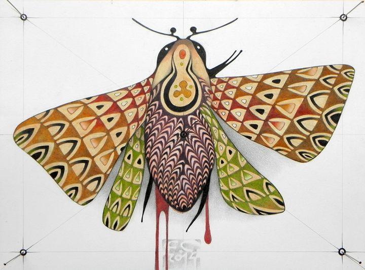 pink moth (ORIGINAL SOLD) - federico cortese