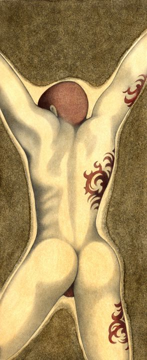 tattooed man - federico cortese